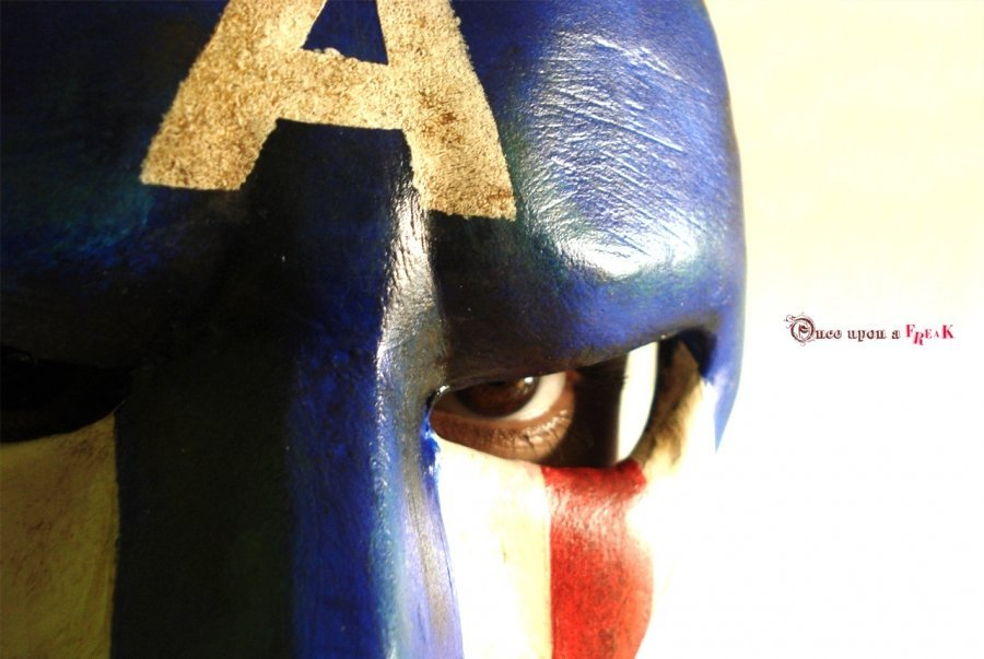 antifaz capitan america hecho a mano