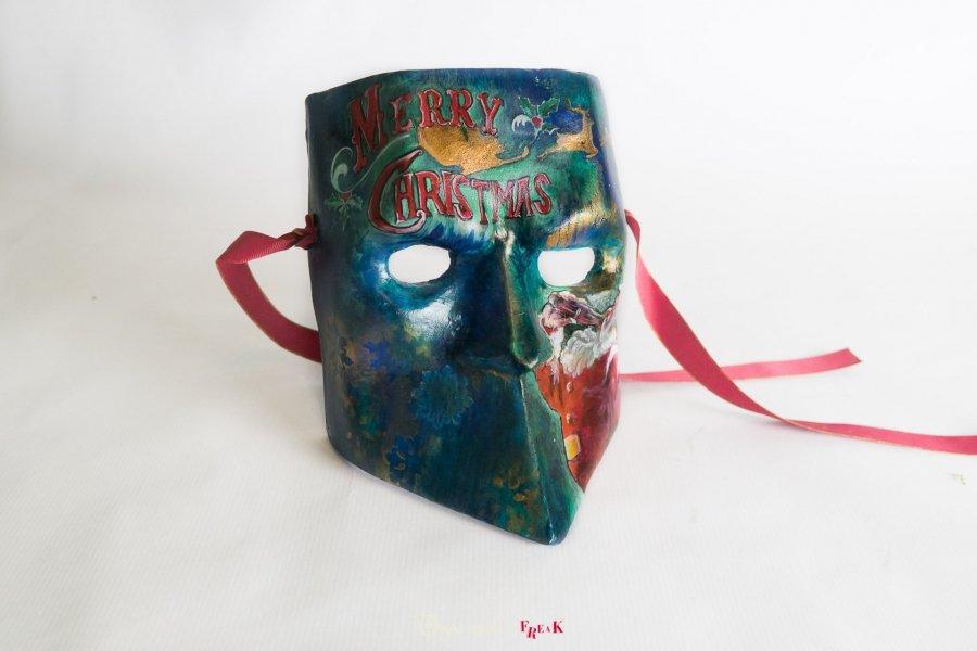 máscara de bauta Merry Christmas santa claus