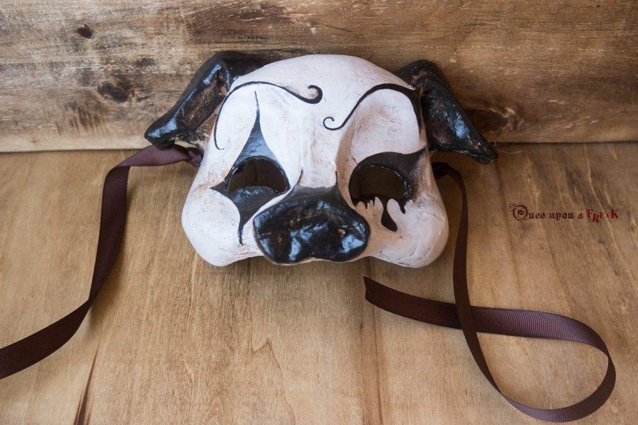 mascara veneciana cerdo pierrot gotica circo de los horrores