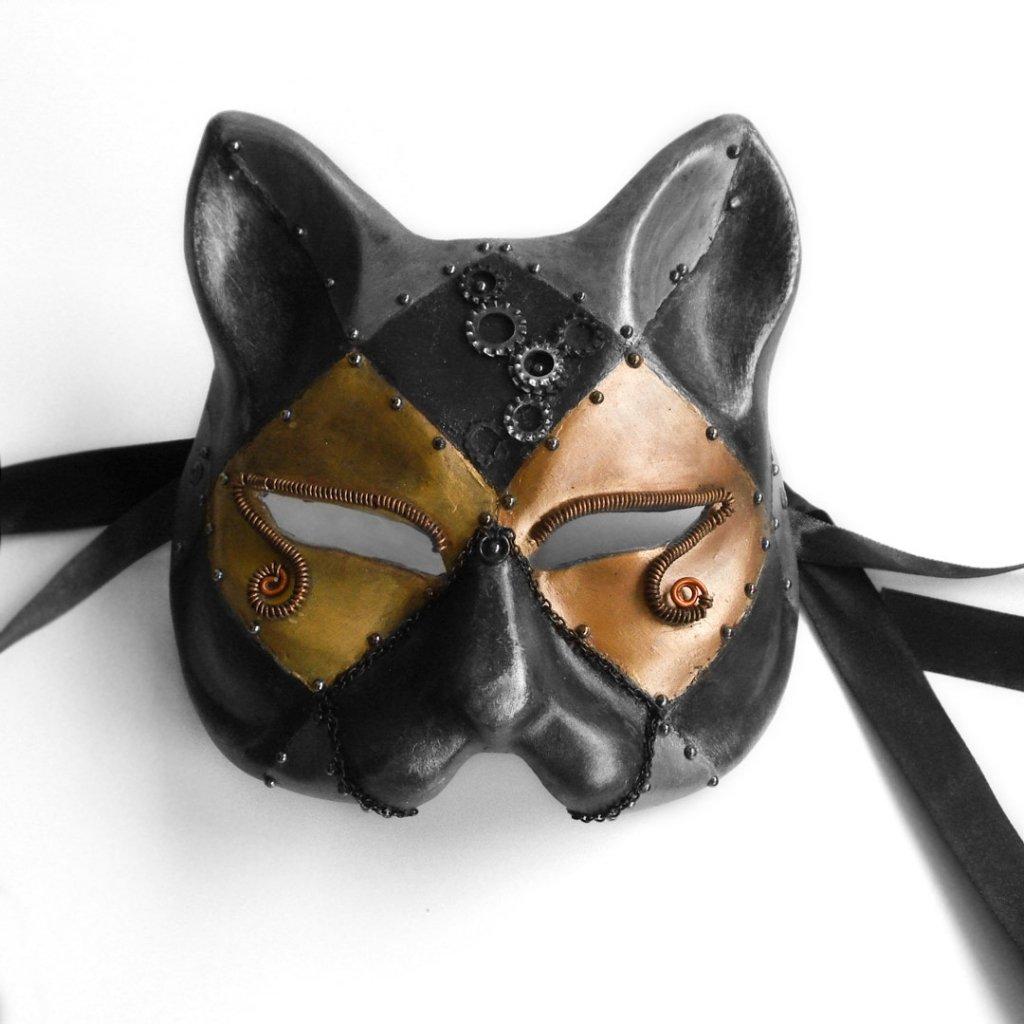 mascaras venecianas de gato