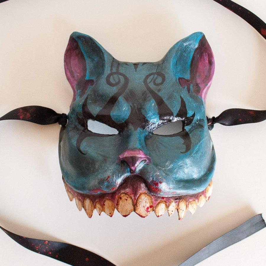 mascara veneciana gato de cheshire alicia en el pais de las maravillas