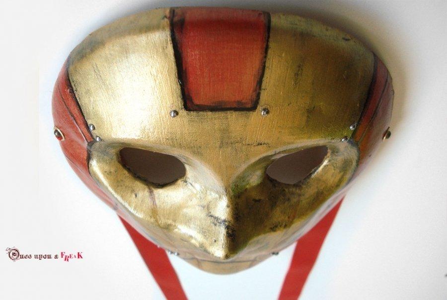 máscara veneciana de ironman